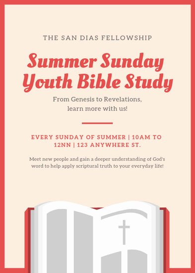 Bible Study Invitation Template Luxury Customize 52 Church Flyer Templates Online Canva