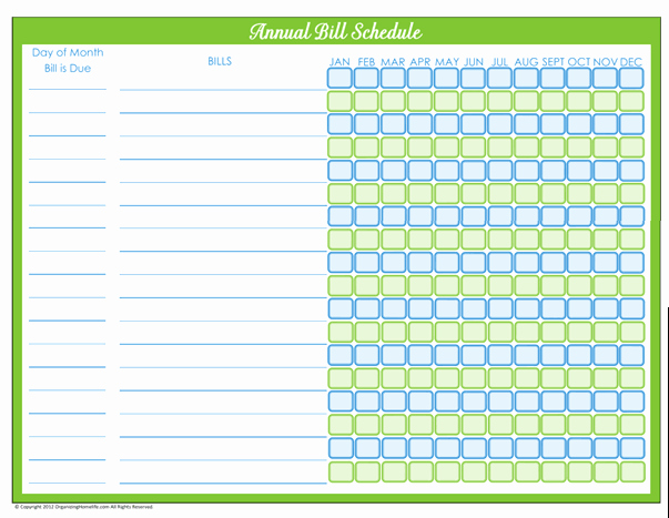 Bill Payment Schedule Template Excel Lovely 5 Bill Payment Schedule Templates Word Excel formats
