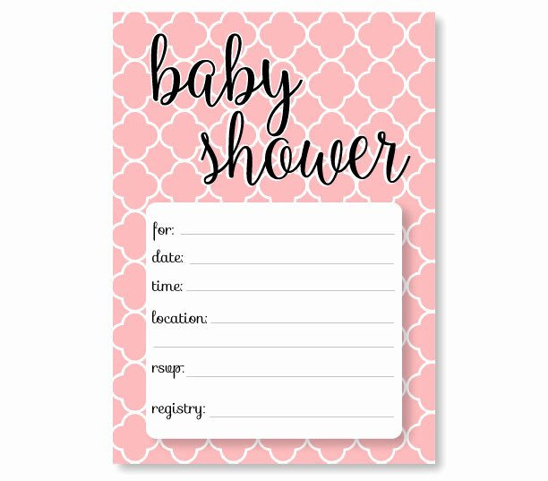 Blank Baby Shower Invitation Template Beautiful Free Baby Shower Invitation Templates Printable Baby