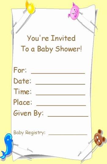 Blank Baby Shower Invitation Template Elegant Free Printable Babyshower Invitation