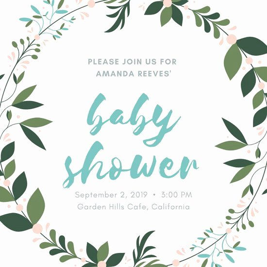 Blank Baby Shower Invitation Template Fresh Customize 660 Baby Shower Invitation Templates Online Canva