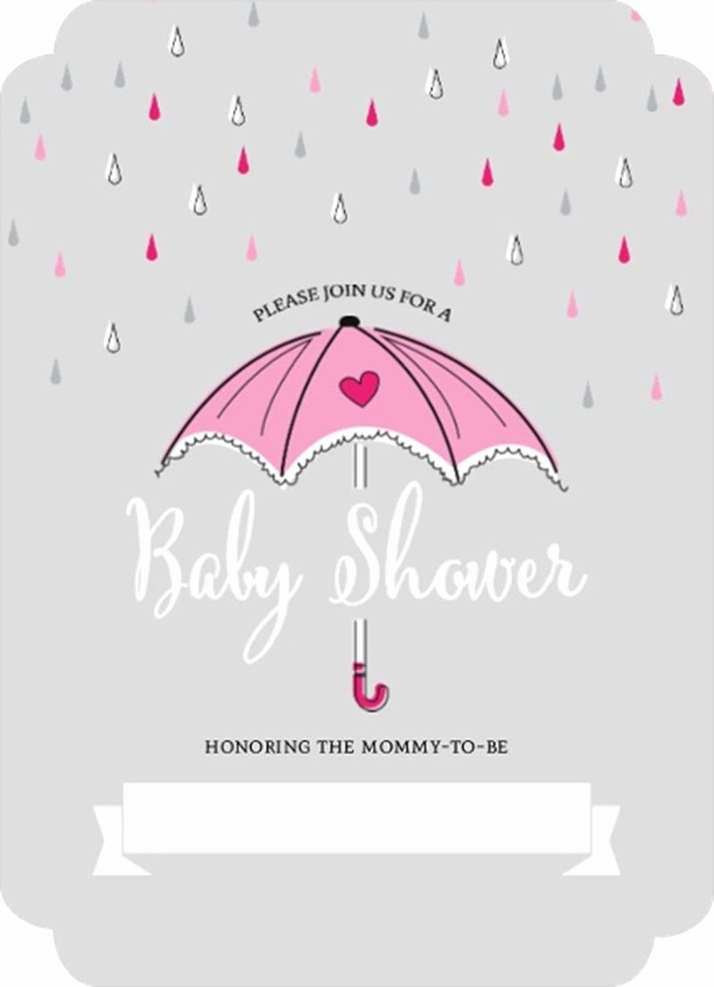 Blank Baby Shower Invitation Template Inspirational Interesting Pink Umbrella and Rain Drops Fill In Blank