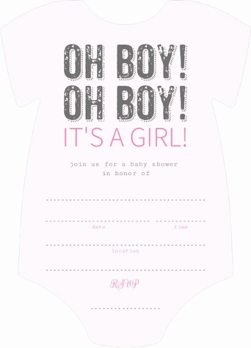 Blank Baby Shower Invitation Template Lovely Enticing Light Pink and Black Oh Boy It is Girl Fill In