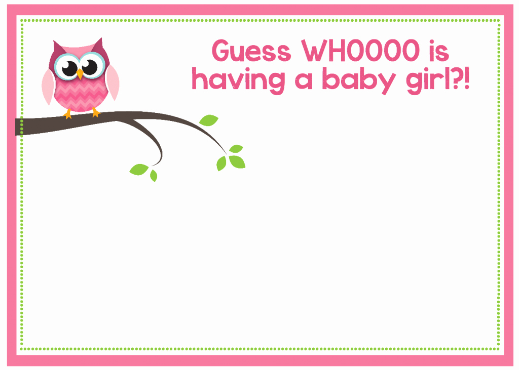 Blank Baby Shower Invitation Template New Free Printable Owl Baby Shower Invitations & Other
