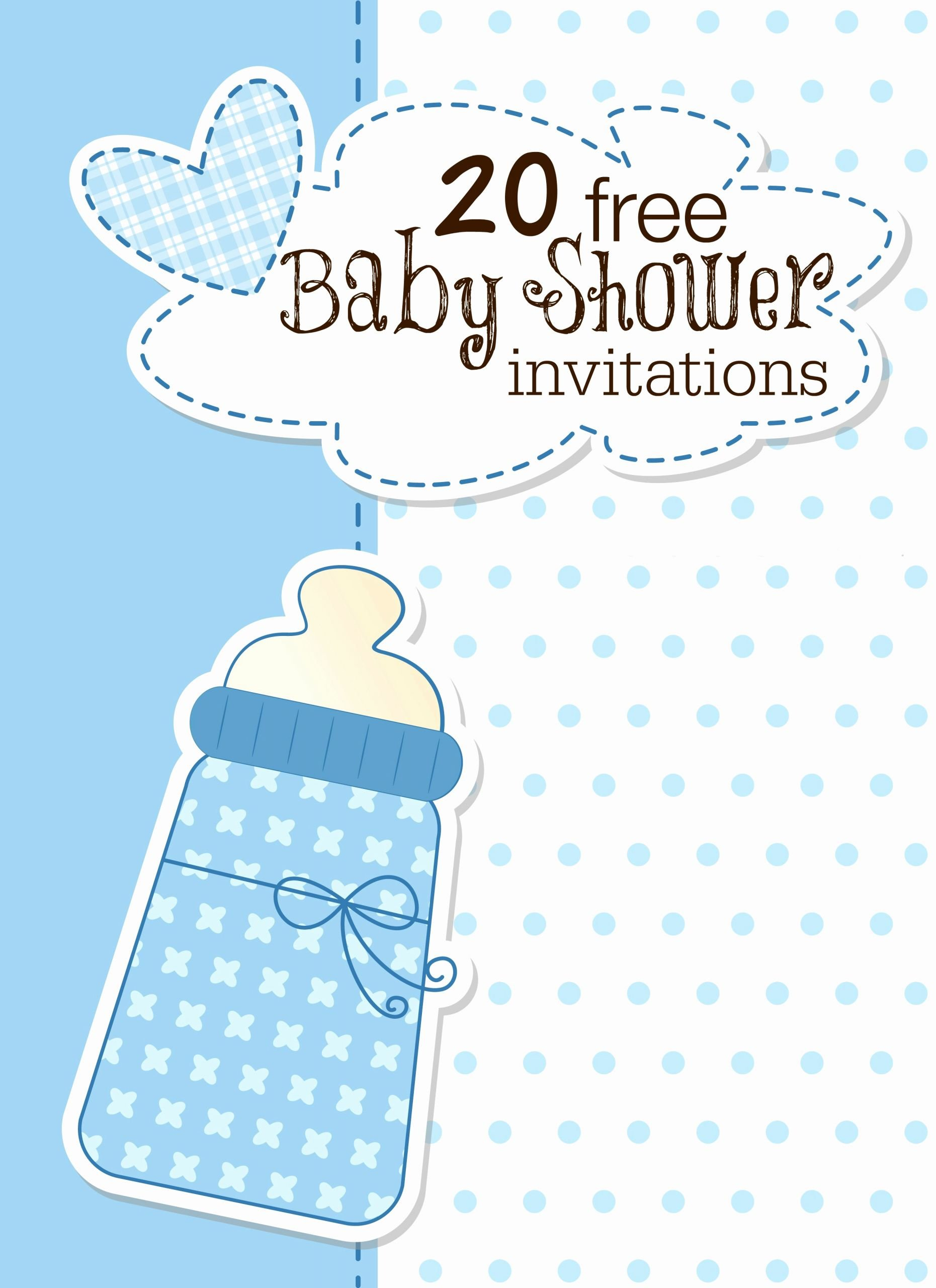 Blank Baby Shower Invitation Template New Printable Baby Shower Invitations