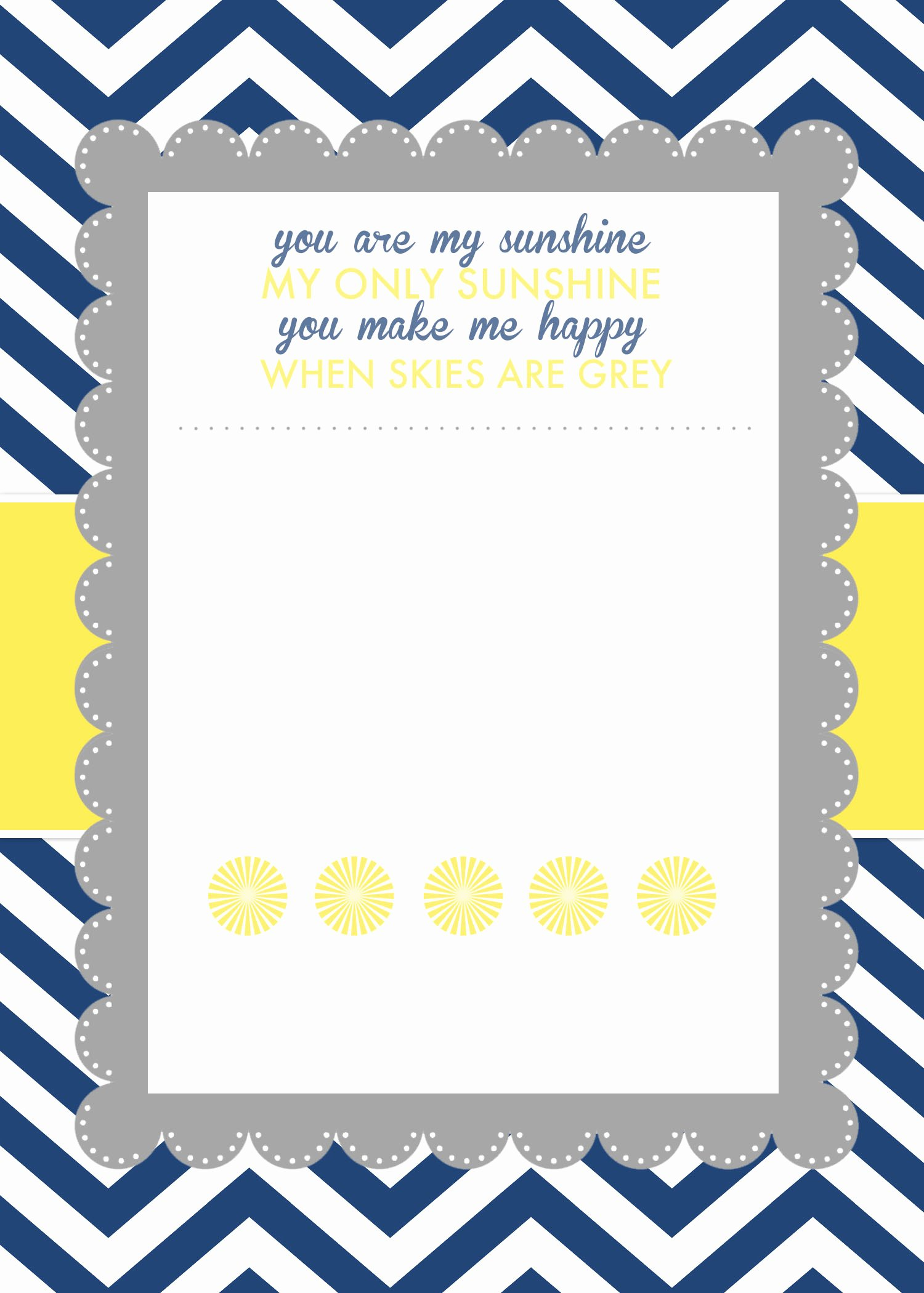 Blank Baby Shower Invitation Template New You are My Sunshine Baby Shower Printables How to Nest