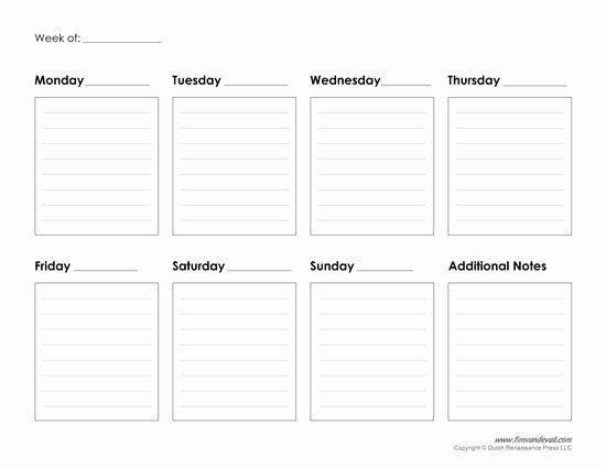Blank Daily Schedule Template Beautiful Weekly Calendar Template Improve Your Productivity
