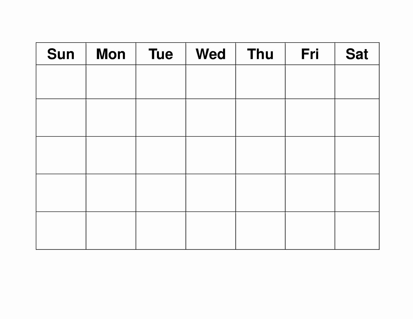 Blank Daily Schedule Template Elegant Blank Weekly Calendars Printable