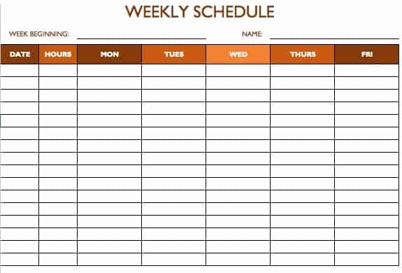 Blank Daily Schedule Template Inspirational Free Work Schedule Templates for Word and Excel