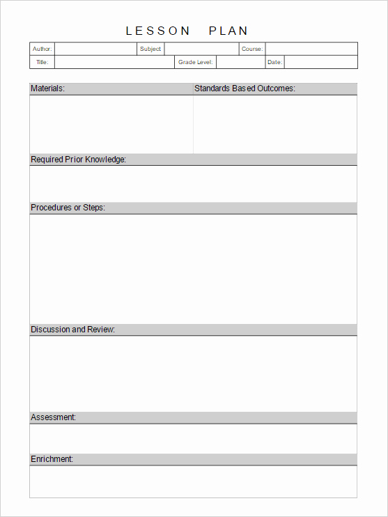Blank Lesson Plan Template Free Fresh Lesson Plan Template Add Diagrams Easily to Lesson Plans