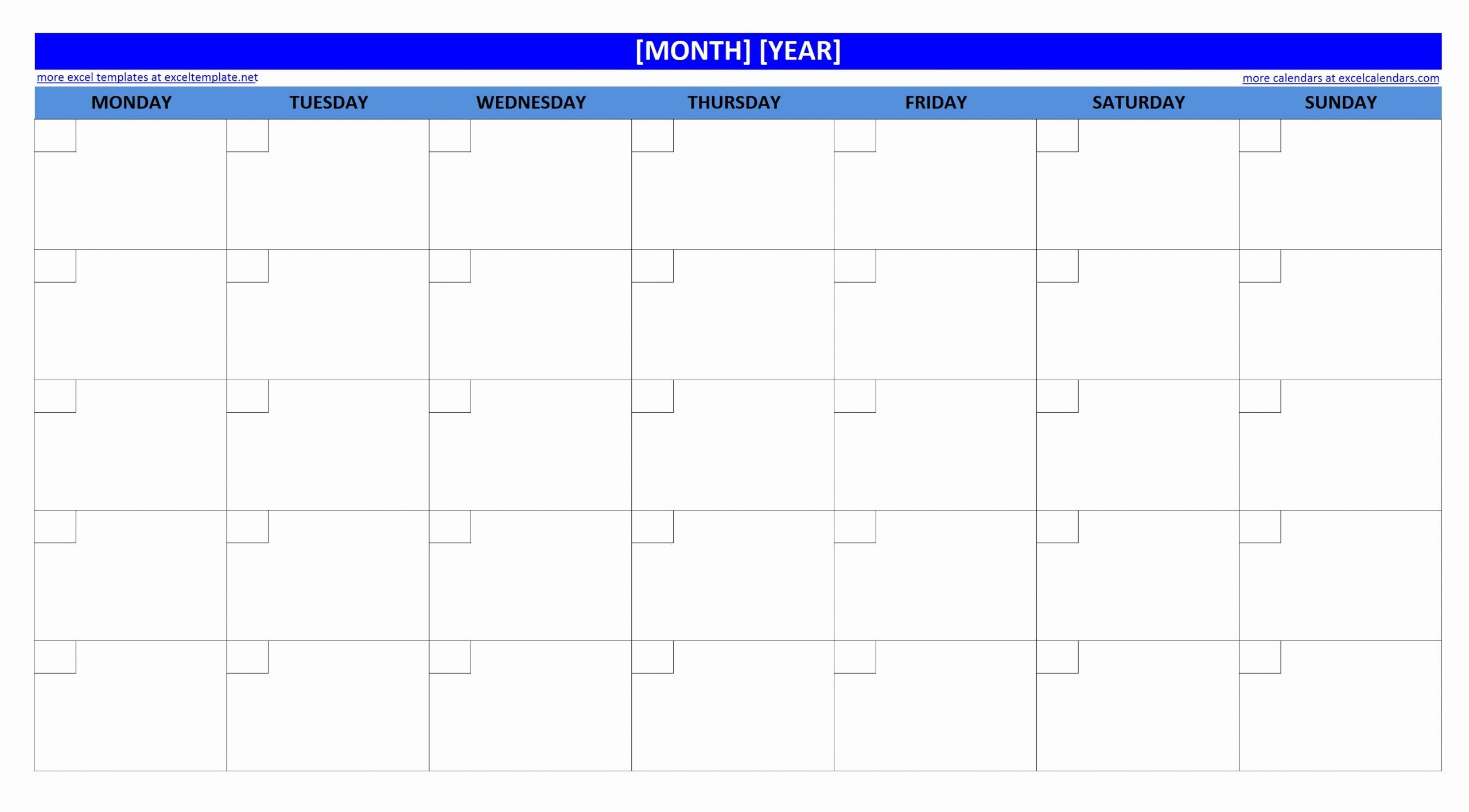 Blank Monthly Schedule Template Beautiful Printable Blank Monthly Calendar