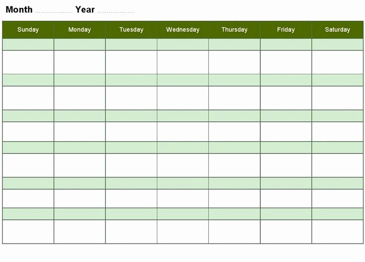 Blank Monthly Schedule Template Best Of 66 Best Images About Calendar Template Printable On