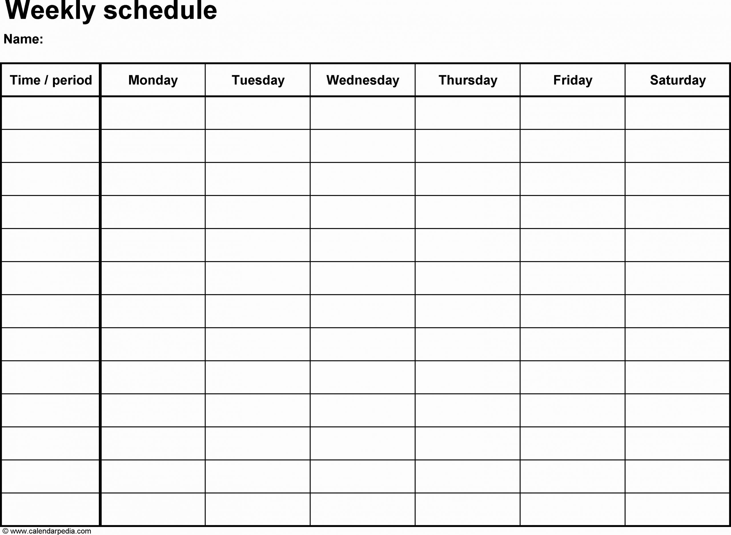 Blank Monthly Schedule Template Fresh Weekly Pregnancy Blank Templates 2016
