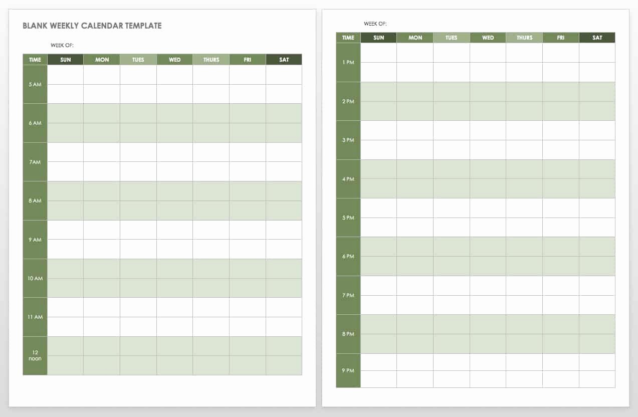 Blank Monthly Schedule Template Lovely 15 Free Weekly Calendar Templates