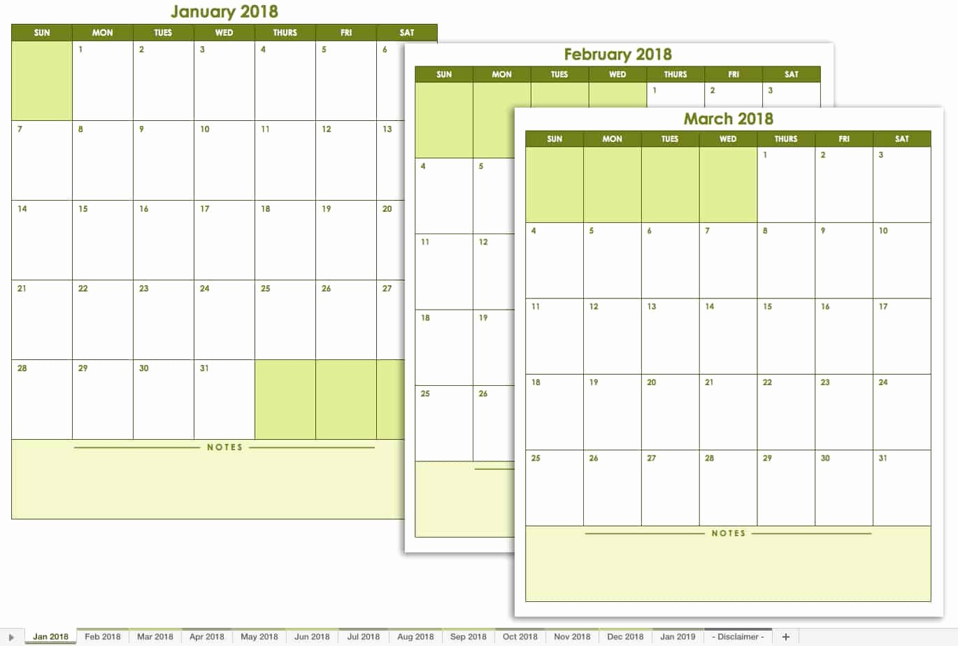 Blank Monthly Schedule Template Luxury Free Excel Calendar Templates