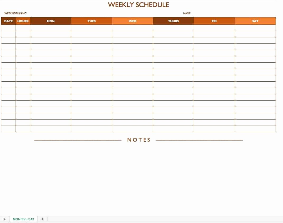 Blank Monthly Schedule Template New Free Work Schedule Templates for Word and Excel Smartsheet