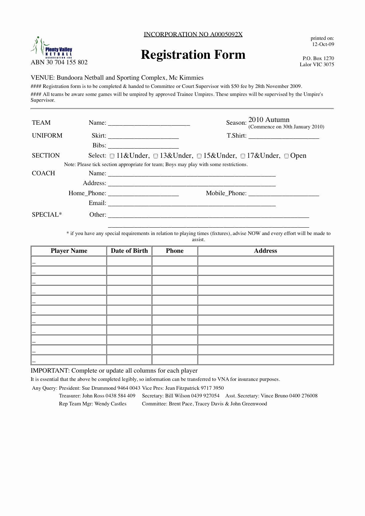 Blank Registration form Template Lovely 21 Of Blank Registration form Template