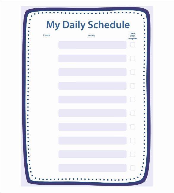 Blank School Schedule Template Beautiful School Schedule Template 19 Free Word Excel Pdf