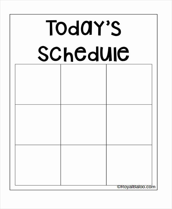 Blank School Schedule Template Inspirational 9 Homeschool Schedule Templates Sample Example