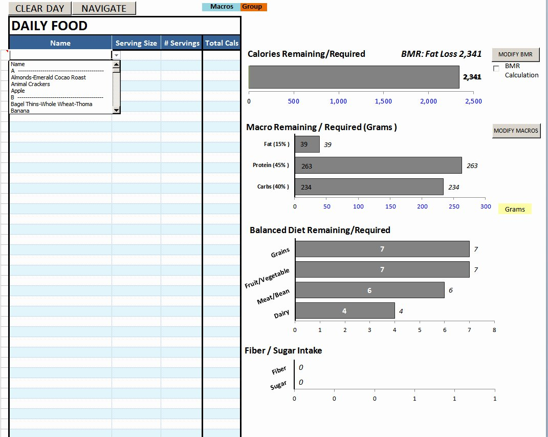 Bodybuilding Meal Planner Template Awesome Nutrition Spreadsheet Template Inside Best Excel Sheet