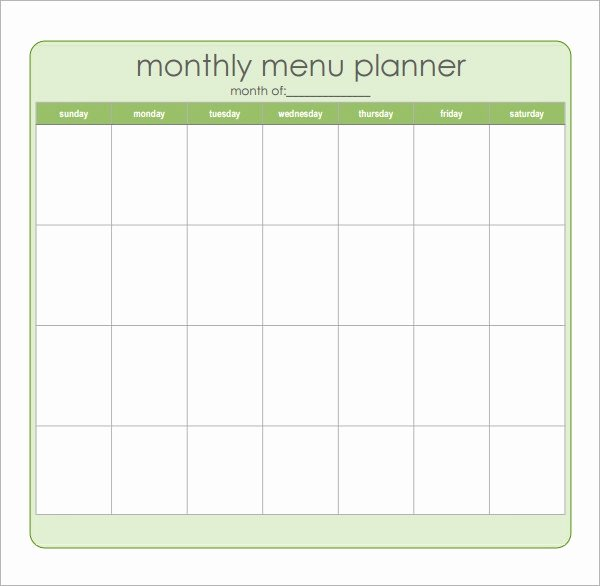 Bodybuilding Meal Planner Template Beautiful Free 17 Meal Planning Templates In Pdf Excel