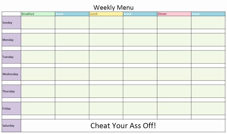 Bodybuilding Meal Planner Template Beautiful Lose Weight Workout at the Gym 28 Days 6 Meals A Day