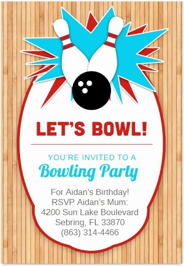Bowling Invitations Free Template Beautiful 7 Free Sample Bowling Game Invitation Templates