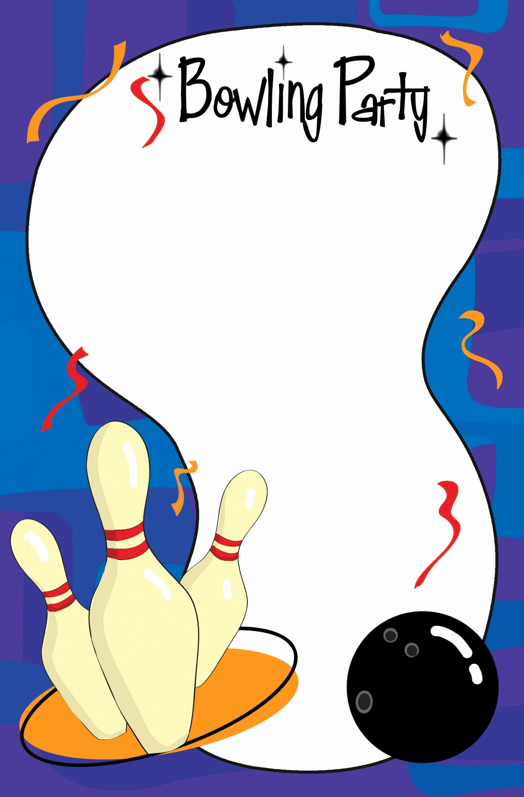 Bowling Invitations Free Template Beautiful Bowling Invitation Template Cliparts