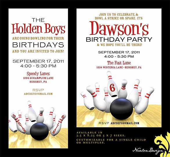 Bowling Invitations Free Template Elegant 7 Free Sample Bowling Game Invitation Templates