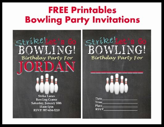 Bowling Invitations Free Template Fresh 17 Best Bowling Printables Images On Pinterest