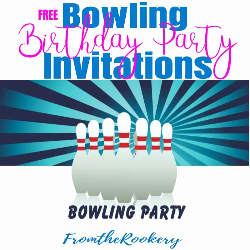 Bowling Invitations Free Template Fresh Bowling Birthday Party Invitations