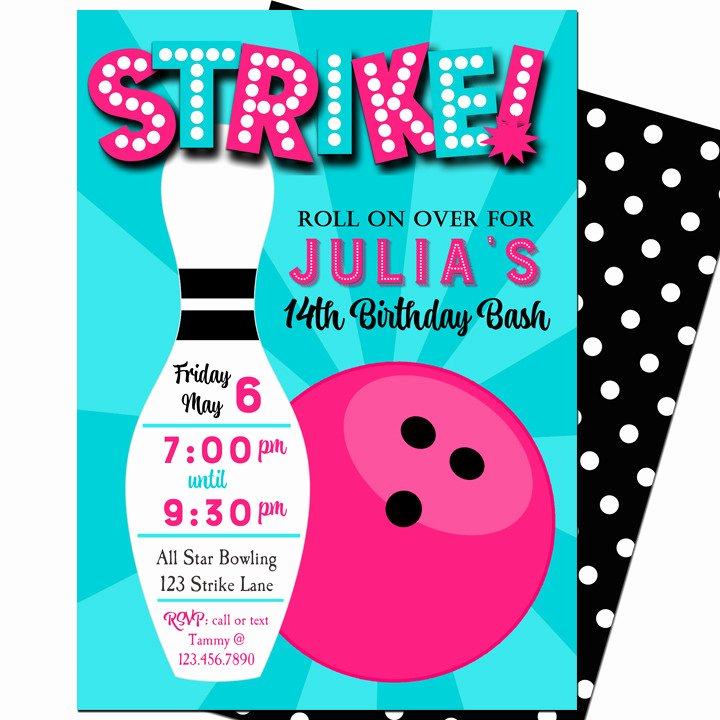 Bowling Invitations Free Template Fresh Strike Bowling Party Invitation by that Party Chick