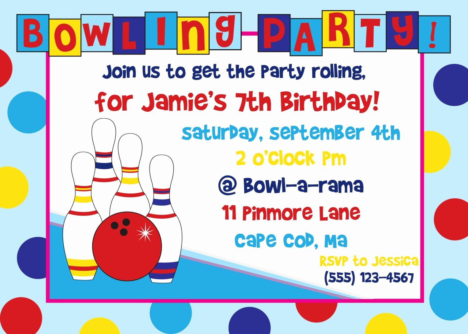Bowling Invitations Free Template Inspirational Bowling Birthday Party Invitations Free Templates