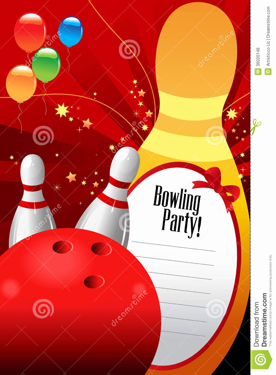 Bowling Invitations Free Template Lovely Bowling Party Invitation Template Royalty Free Stock