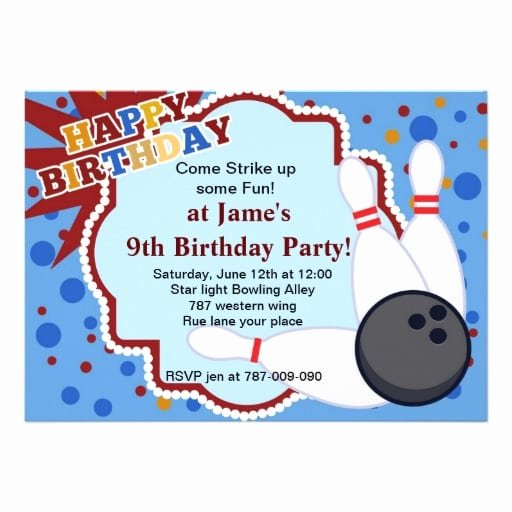 Bowling Invitations Free Template Lovely Free Bowling Birthday Invitation Template