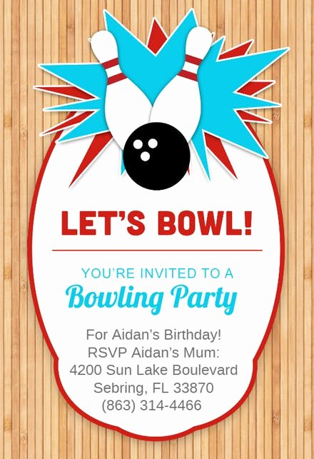 Bowling Invitations Free Template Lovely Sports & Games Invitation Templates Free