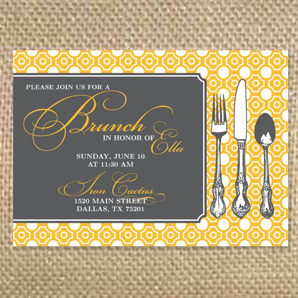 Brunch Invitation Template Free Awesome Pretty Bridal Brunch Invitation by Uluckygirl On Etsy