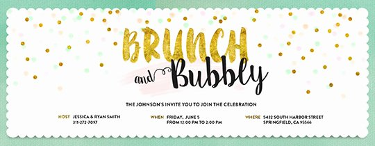 Brunch Invitation Template Free Beautiful Free Brunch & Lunch Party Invitations