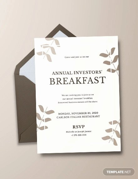 Brunch Invitation Template Free Fresh 18 Corporate Invitation Designs Psd Ai Eps