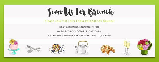Brunch Invitation Template Free Inspirational Free Brunch & Lunch Party Invitations