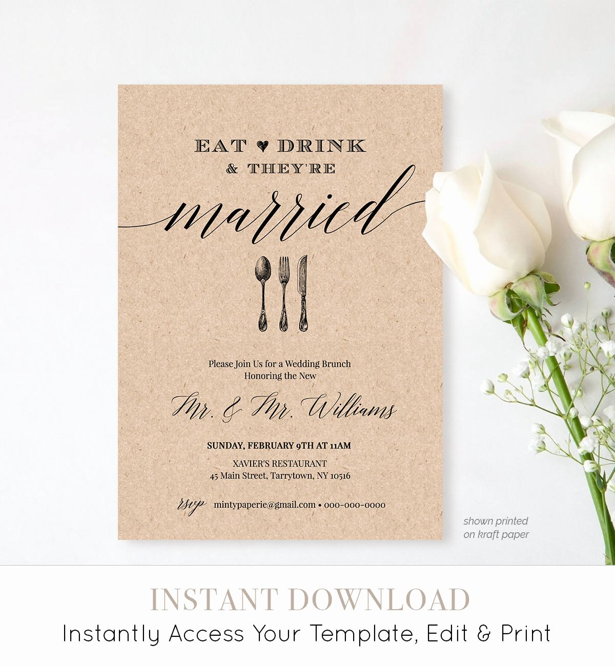 Brunch Invitation Template Free Luxury Post Wedding Brunch Invitation Template Printable Brunch