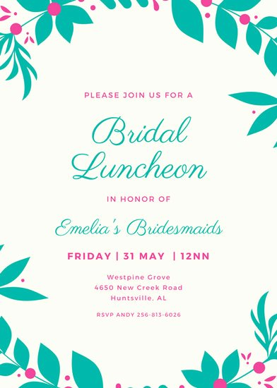 Brunch Invitation Template Free New Customize 114 Luncheon Invitation Templates Online Canva