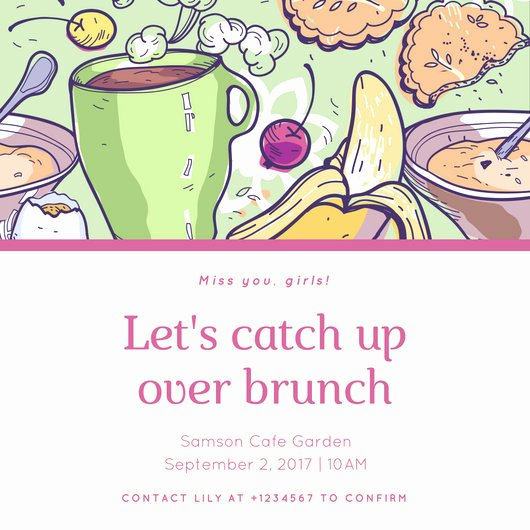 Brunch Invitation Template Free Unique Customize 118 Brunch Invitation Templates Online Canva