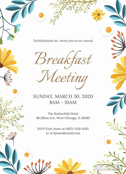 Brunch Invitation Template Free Unique Free Corporate Breakfast Invitation Template Download 344