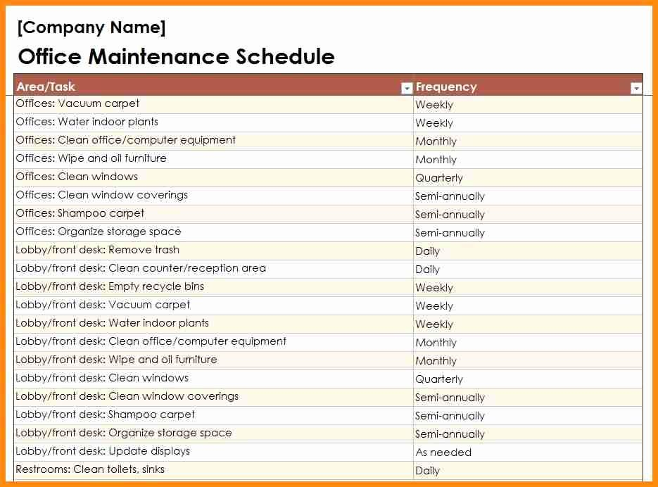 Building Maintenance Schedule Template Awesome Building Maintenance Checklists – Emmamcintyrephotography