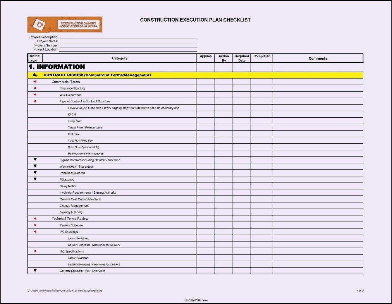 Building Maintenance Schedule Template Fresh Building Maintenance Checklists – Emmamcintyrephotography