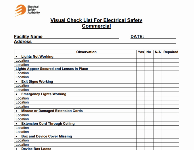 Building Maintenance Schedule Template Inspirational 4 Facility Maintenance Checklist Templates Excel Xlts