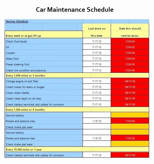 Building Maintenance Schedule Template Luxury Building Maintenance Schedule Template