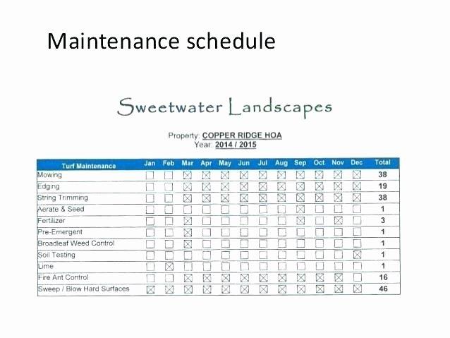 Building Maintenance Schedule Template Unique 5 Year Maintenance Plan Template