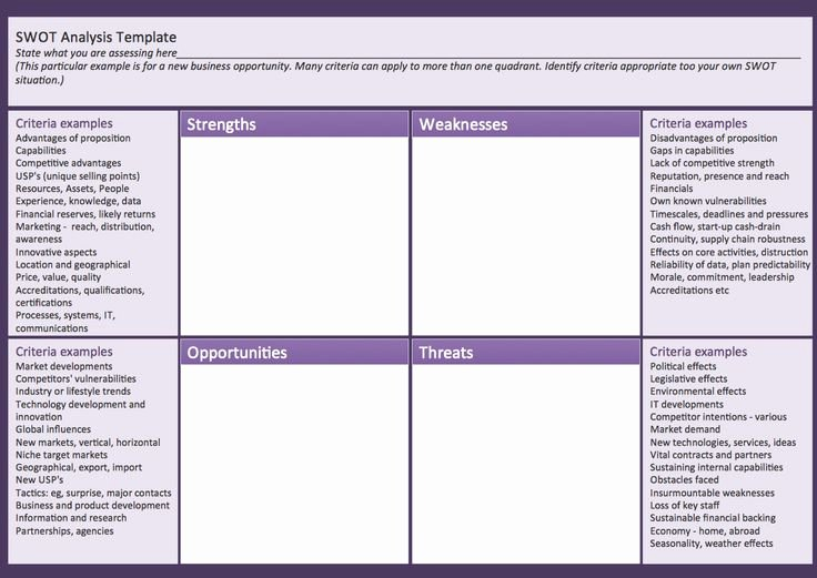 Business Analysis Plan Template Best Of Swot Analysis Matrix Template